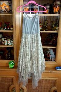 NWT RYU lace tulle asymmetrical tunic dress sz Med